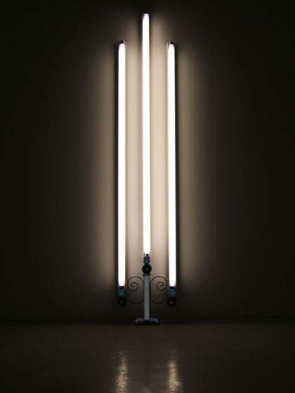 Dan Flavin goes Allmoge light installation by Joanna Thede
