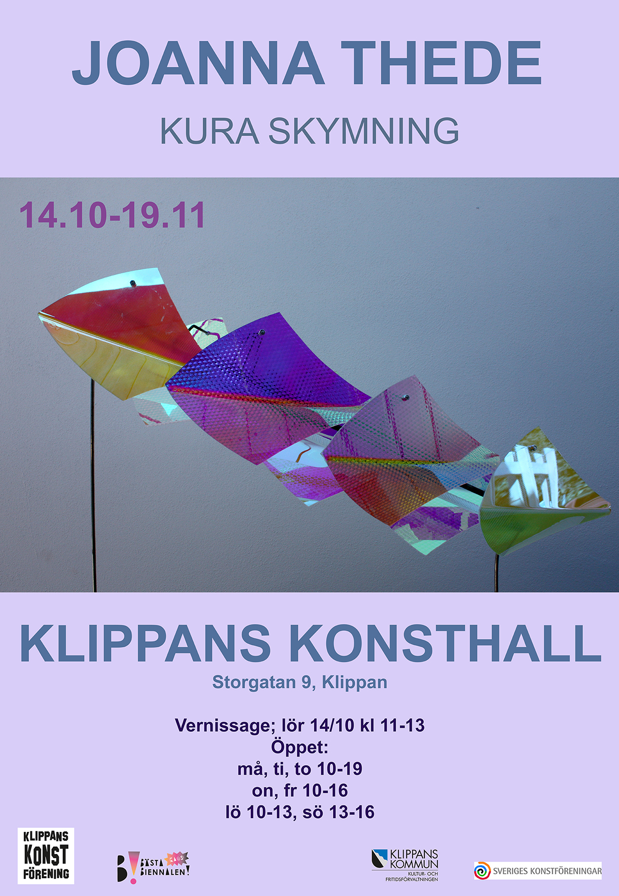 Joanna Thede opening Klippans konsthall 2017